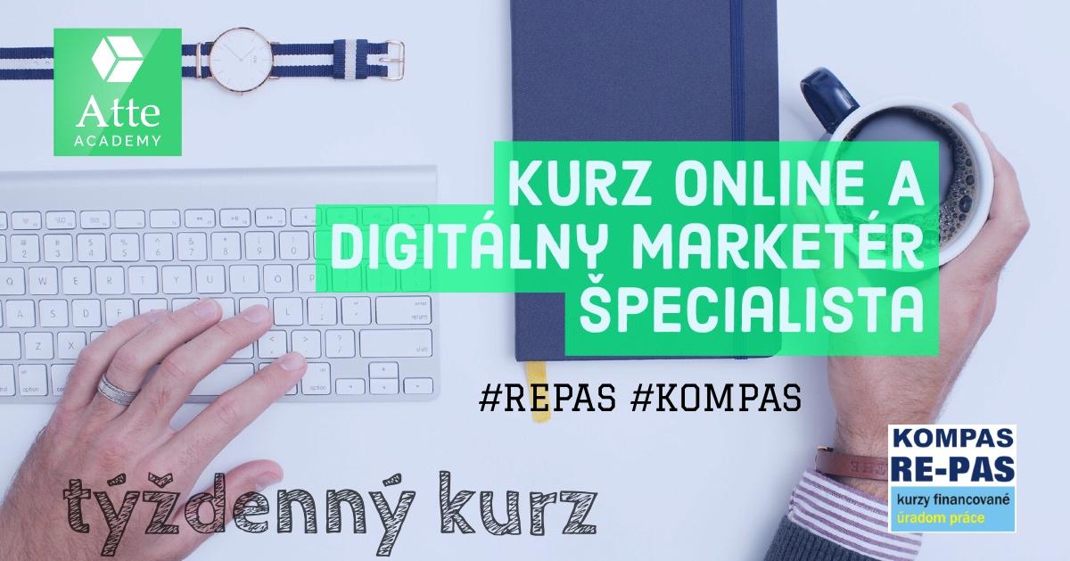 kurz online a digitálny marketér špecialista