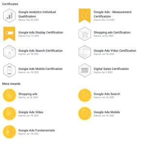 Ivanove Google certifikáty